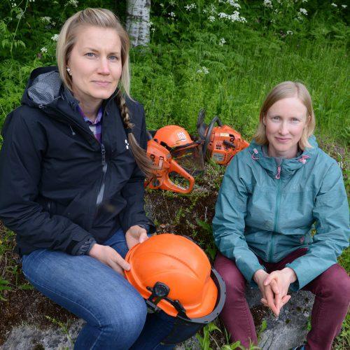 Hanna Öhman och Anna Andersson, Skoglig försökspark och integrationsarena, Övertorneå kommun