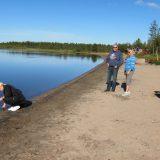 Badstranden i Mertajärvi
