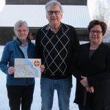 Bildtext: Gun-Britt Liljergren, Bosse Kronborg och Karin Huhta planerar för Pilgrimsvandringsleden i Haparanda kommun